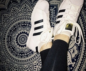 adidas, superstar, and black image