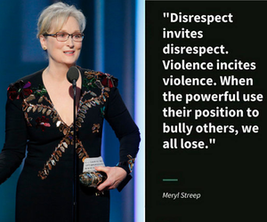 meryl streep, quote, and golden globes 2017 image