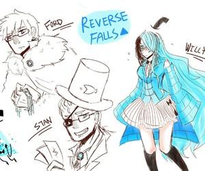 genderbend, gravity falls, and reverse falls image