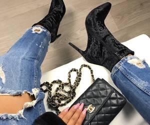 heels, black, and nails image