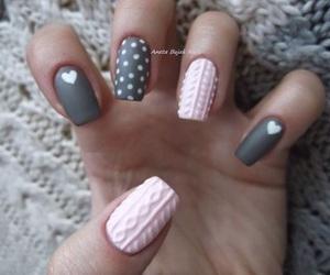 nail art, nails, and winter image