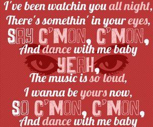one direction, c'mon c'mon, and Lyrics image
