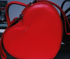 bag, heart, and red image
