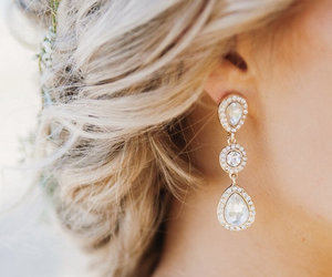 bride, earring, and gorgeous image