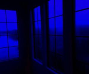 blue and dark image