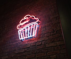 neon, cupcake, and light image