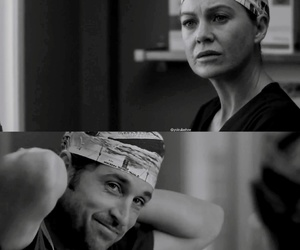 derek, meredith, and grey's anatomy image