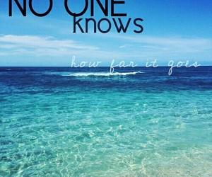 beach, blue, and horizon image