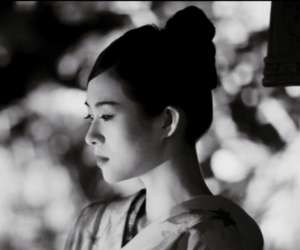 asian, beautiful, and black and white image