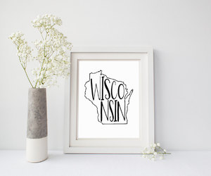 black and white, milwaukee, and rustic decor image
