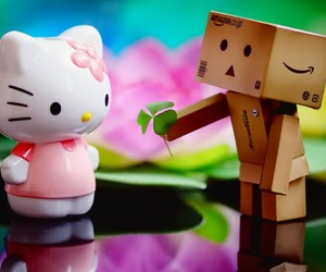 danbo, hello kitty, and cute image