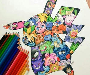 art, drawing, and pokemon image