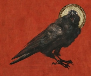 art, crow, and painting image
