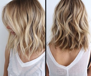 blonde, hair, and highlighted hair image