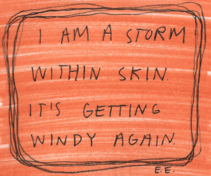 quote, orange, and storm image