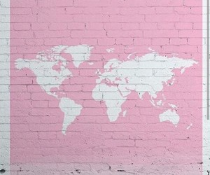 map, pink, and world image