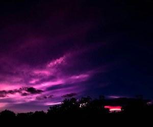 sky, purple, and night image