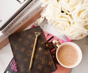 books, Harpers Bazaar, and Louis Vuitton image