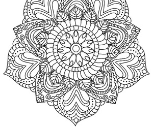 black, lines, and mandala image