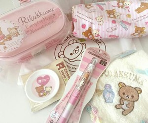 rilakkuma, kawaii, and pink image