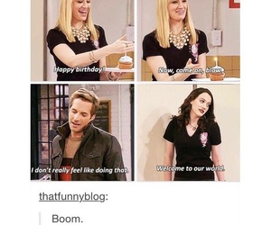 funny, quote, and 2 broke girls image