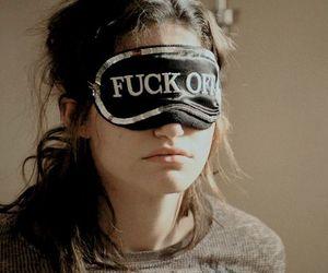 fuck off, sleep, and girl image