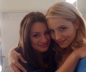 dianna agron, glee, and lea michele image