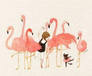 art, birds, and ballet image