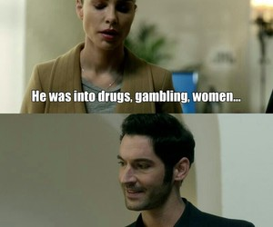 chloe, funny, and lucifer image