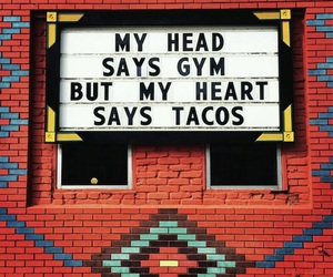 gym, tacos, and heart image