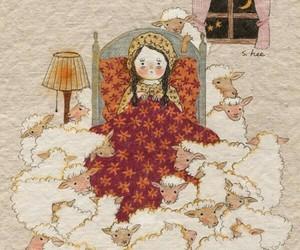 girl and sheep image