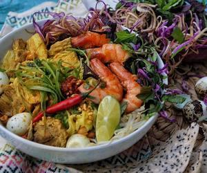 noodles, shrimp, and turmeric image