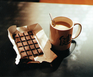 drink, chocolate, and sweet things image