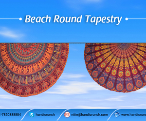 beach throw, round beach towel, and mandala roundies image