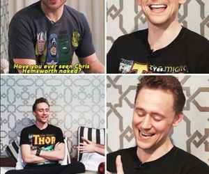tom hiddleston, funny, and thor image