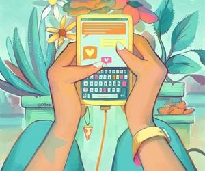 art, heart, and illustration image