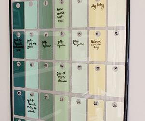 calendar, diy, and home image
