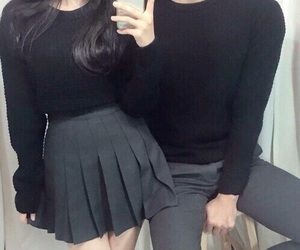 couple, black, and ulzzang image