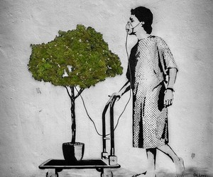 art, street art, and tree image
