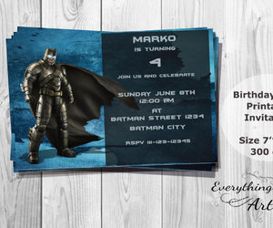 dark knight, party invitation, and kids invitation image