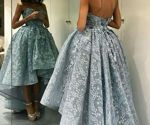 gold bracelets, gorgeous gown, and light blue gowns image