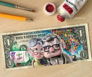 art, disney, and dollar image