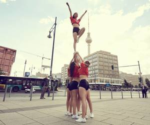 cheer, fit, and girls image