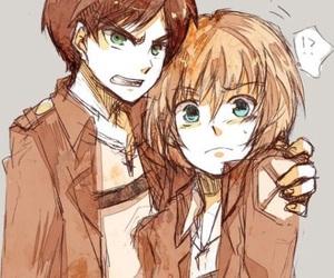 anime, eren x armin, and manga image
