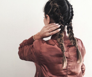 braids, lové, and hairstyle image