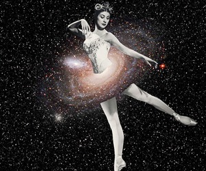 ballerina, ballet, and Collage image