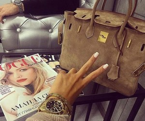 bag, nails, and watch image
