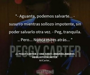 wattpad, peggy carter, and biblioteca carter image