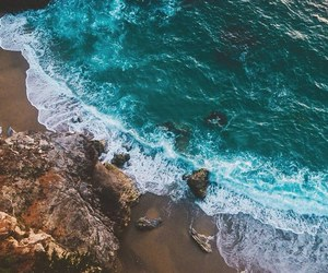 ocean, beach, and landscape image