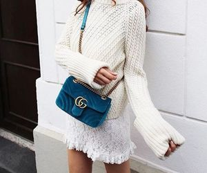 white, bag, and girl image